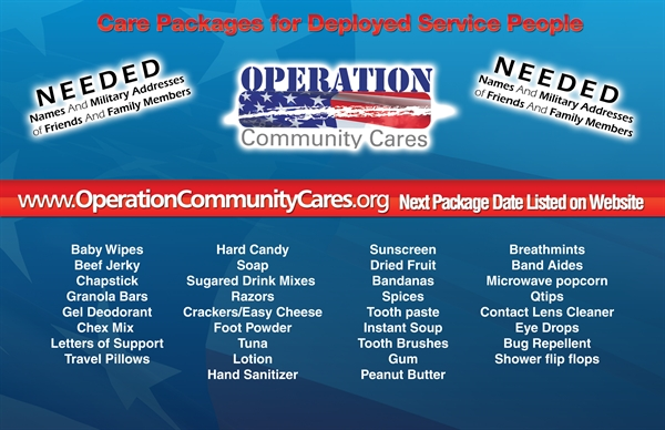 Operation Community Cares - Items needed