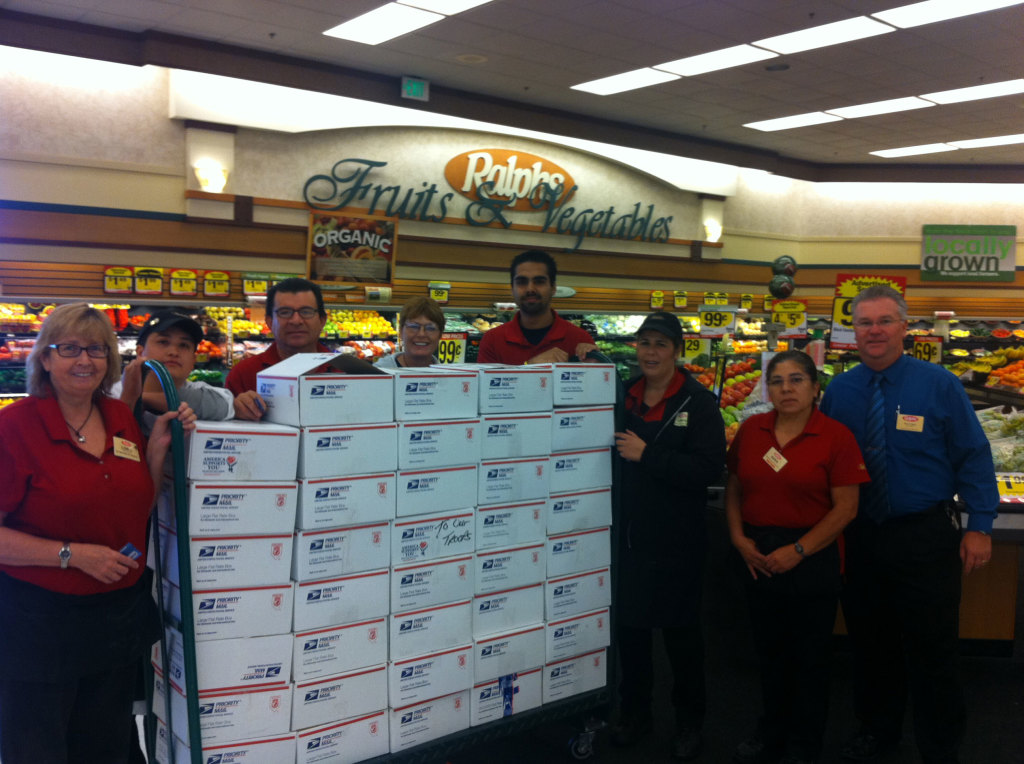 Our thanks to Ralph's Store #114 for their support with 39 Care Packages and funds to ship them