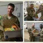 Troops receiving packages from Operation Community Cares